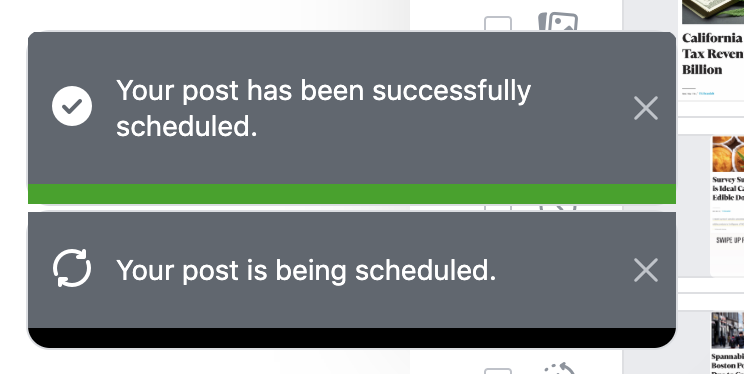 post successfully scheduled